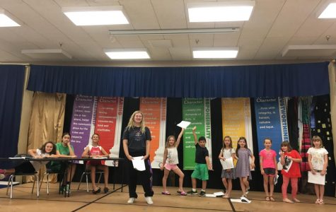 Senior Autumn Froitland volunteers to help with the musical theater program at the elementary school and within Imagine Prep.