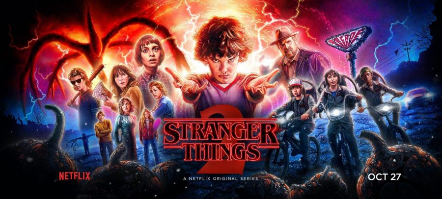 A promotional poster for Stranger Things 2.