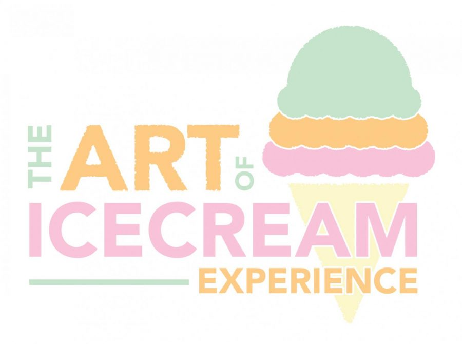 The brightly pastel, eye-catching logo of The Art of Ice Cream experience gives us a little taste of what to expect from the pop-up exhibit.