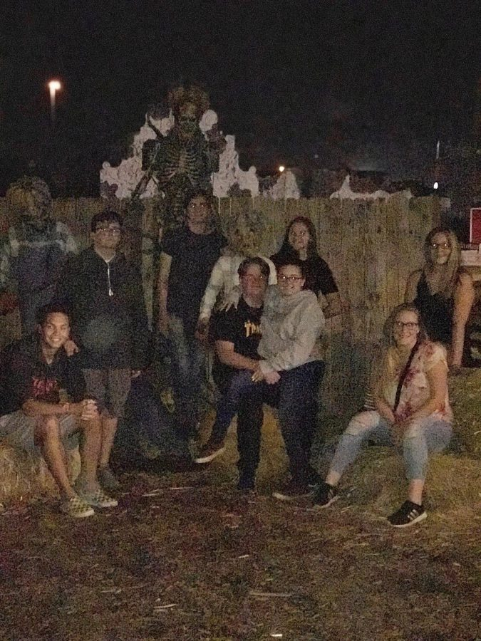 A group of this years seniors attended Fear Farm together last year, they plan to go again this year.