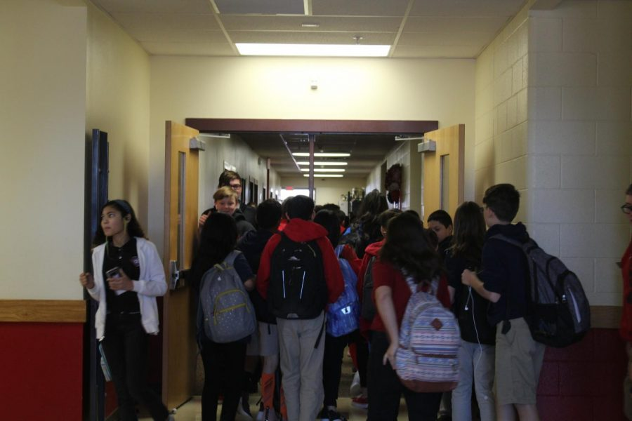 The hallways are crowded, especially when the lunch bell rings.