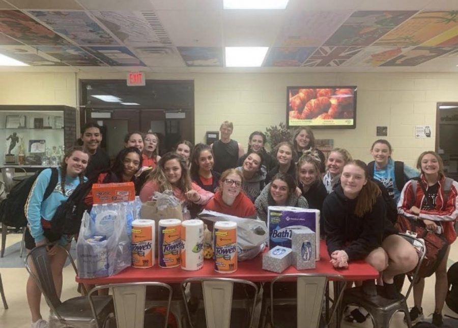 The+IPS+cheer+team+donated+many+items+to+RMHC.