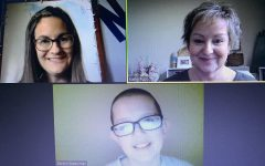 This picture is of me and my teachers, Terri Leach and Kathy Pupo. This is what it looks like when we are doing a zoom meeting.