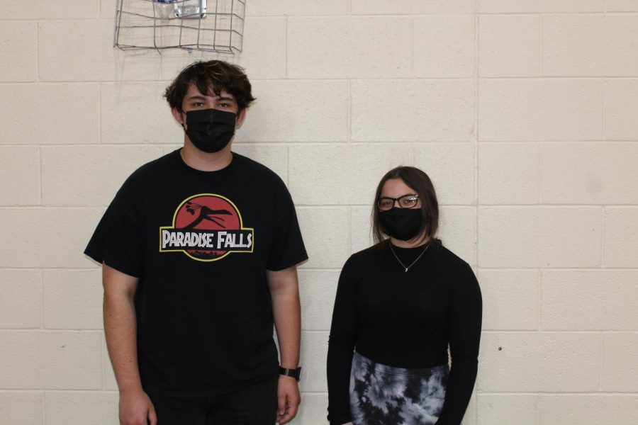 Sophomores Bretton Baca and Isabella Pilon dressed up for